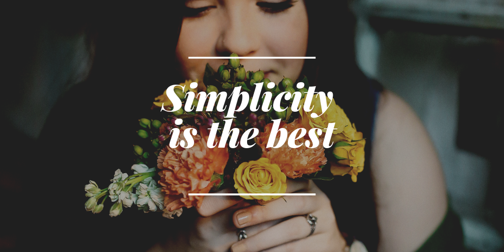 A content should be simple and attractive